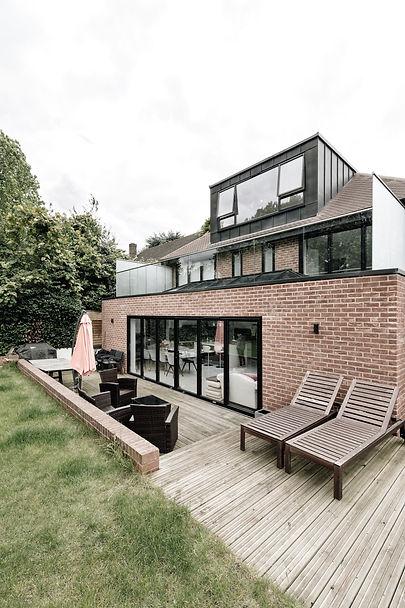 Modern rear extenson and loft conversion Wimbledon Park