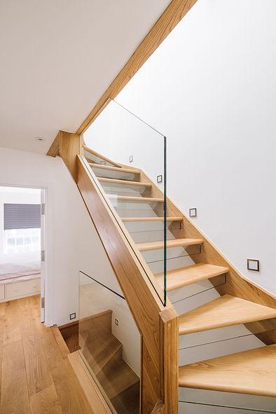 Modern timber an glass stairs
