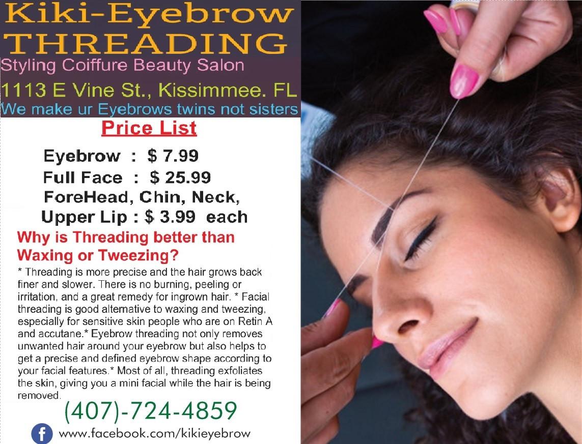 Best Eyebrows   Kiki Eyebrow Threading   United States
