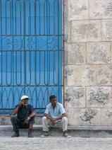 Cuba-two-men-blue-door _JenniferVitanzo-