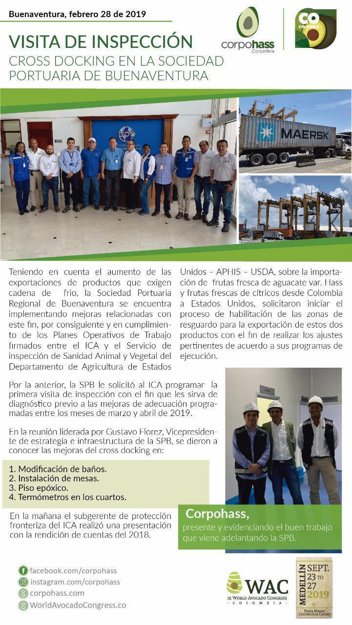 Buenaventura, Visita de inspección cross docking en la sociedad portuaria de Buenaventura