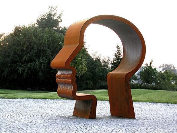 09_Junge Denker_Detail_Stahl, 2002, Höhe