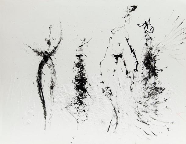 09_Überhauptung, 1985, Tusche u. Gravur,