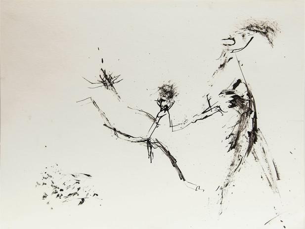 12_Gib mir deine Hand, 1985, Tusche u. G