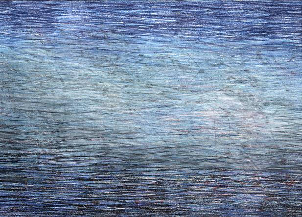01_Verpuppungen, 2005, Buntstift, 14 x 2