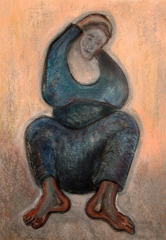 26_Die Riesin, 2006, Aquarell, 43 x 30,3