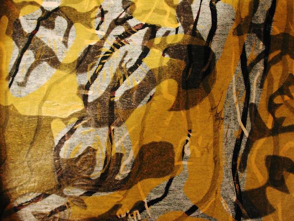 Kräfte II (Detail), Farbholzschnitt_1999