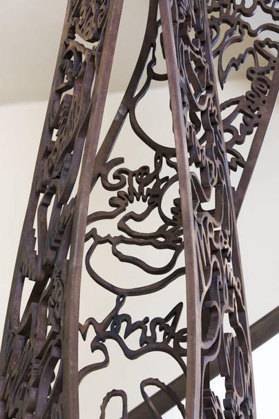 Detail Mnemosyne, 2019, Burg Falkenberg.