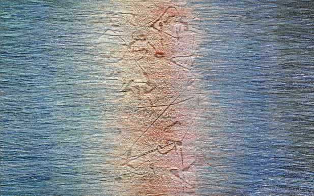 05_Verpuppungen, 2005, Buntstift, 12 x 2