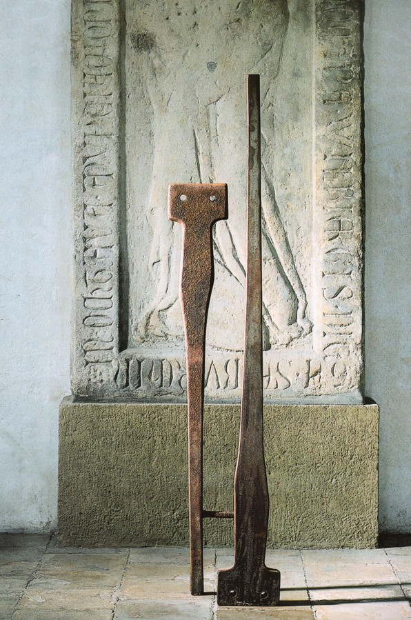 03_Double Figure, 1991, Stahl, geschnitt