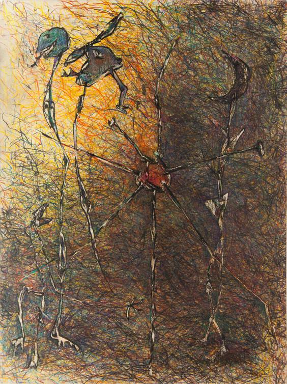 10_Kreuzigung der Sonne, 1985, Buntstift