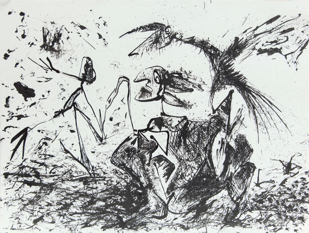 07_Rabenfang, 1985, Tusche u. Gravur, 23