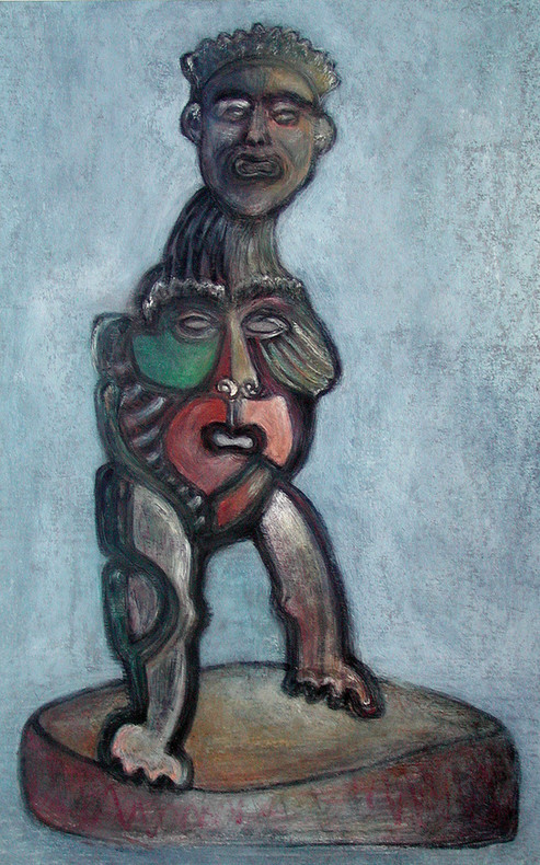 10_Doppelmaske II, 2006, Aquarell, 43 x
