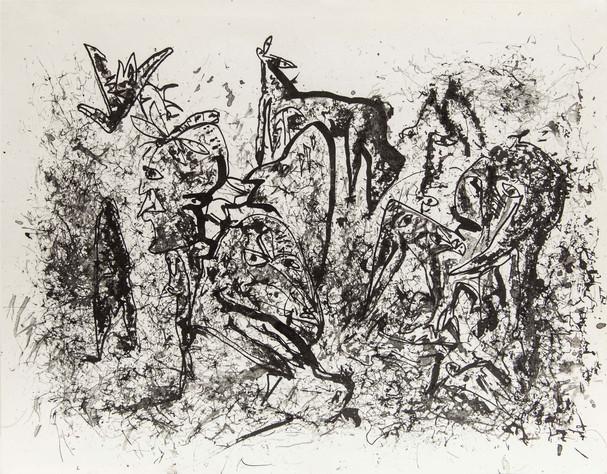 08_Oberer Totpunkt, 1985, Tusche u. Grav