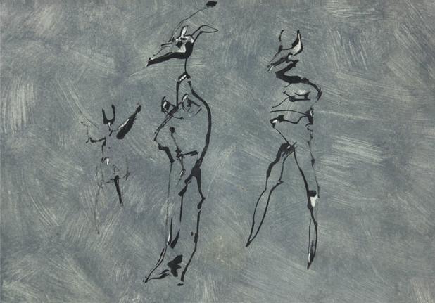 05_Goaty Roads, 1985, Tinte, Aquarell u.