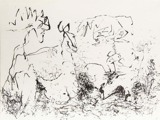05_Nein, du!, 1985, Tusche u. Gravur, 23