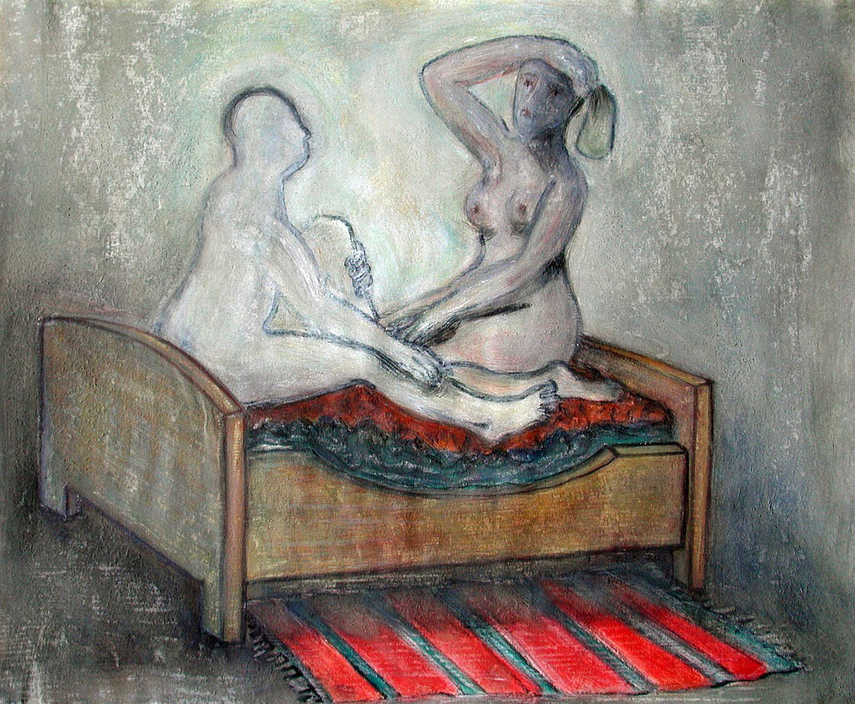 34_Talking in Bed, 2006, Aquarell, 30,3