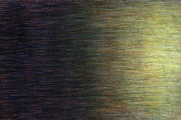 02_Verpuppungen, 2005, Buntstift, 13 x 2