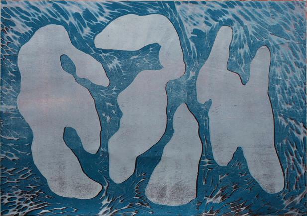 Einfache Formen II, 1999, Farhholzschnit