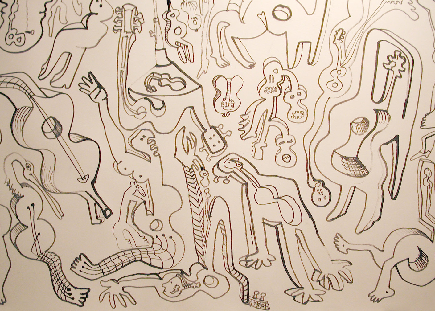08_Guitar People, 2004, Tinte, Detail, 6