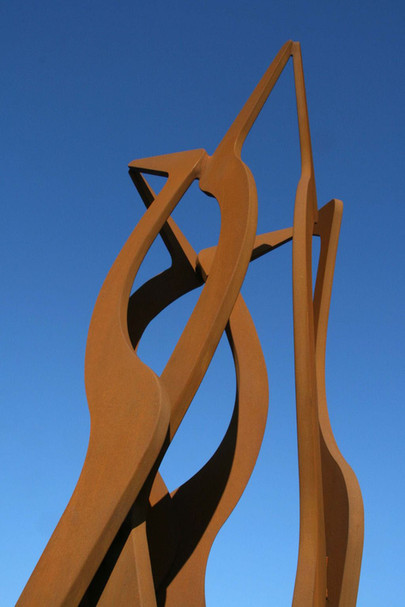 12_Turm, Detail, 2010, Stahl, geschnitte