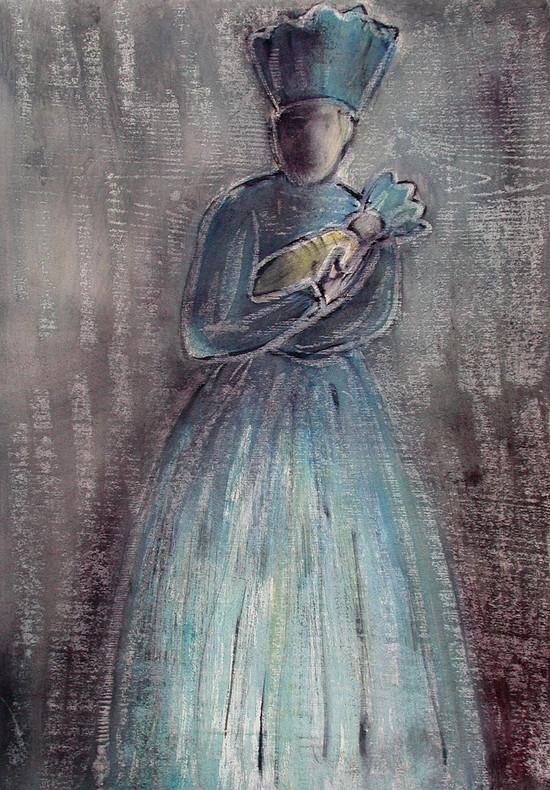 25_Königinnen, 2006, Aquarell, 43 x 30,3
