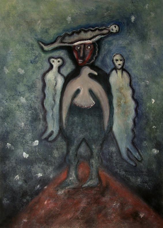 33_Die Schamanin, 2006, Aquarell, 43 x 3