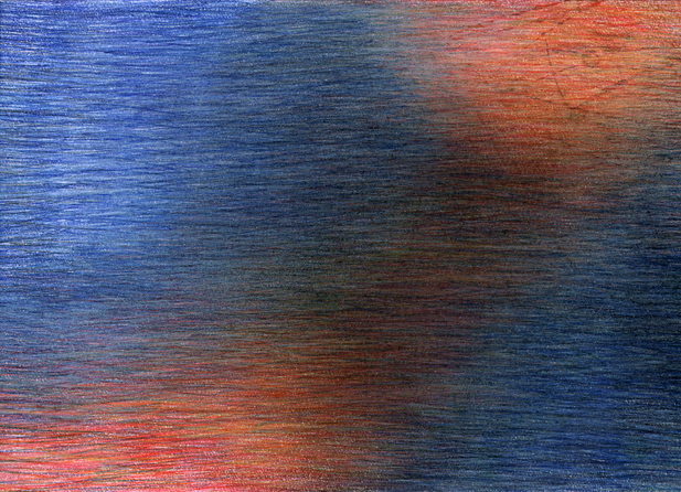 06_Verpuppungen, 2005, Buntstift, 14 x 1