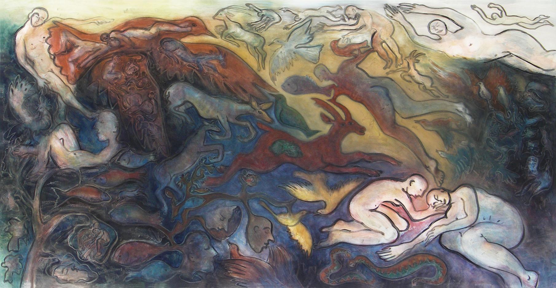 01_Geburt des Ikarus, 2004, Aquarell, 15
