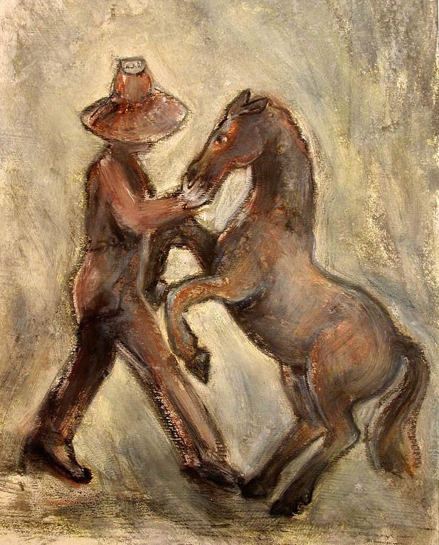 03_Talking to Horses, 2006, Aquarell, 43