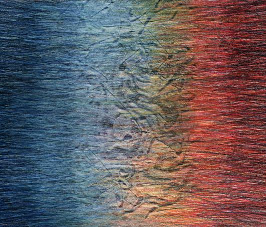 03b_Verpuppungen, 2005, Buntstift, 16 x