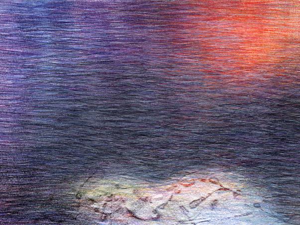 02b_Verpuppungen, 2005, Buntstift, 14 x