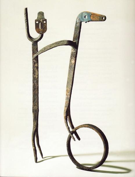 07_Mensch und Tier, 1993; Eisen, geschwe