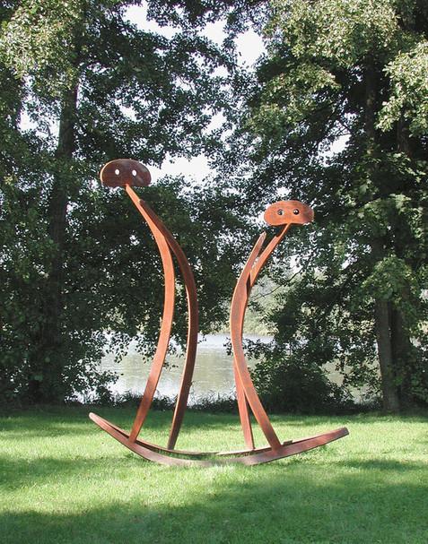 07_Paar, 2002, Stahl, geschnitten und ge