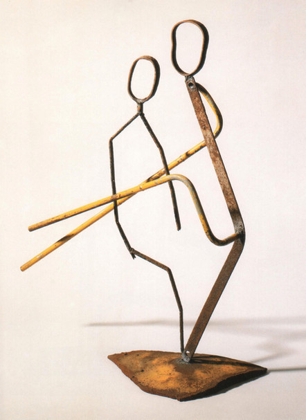 12_Gelber Fluss, 1988, Eisen, geschweißt