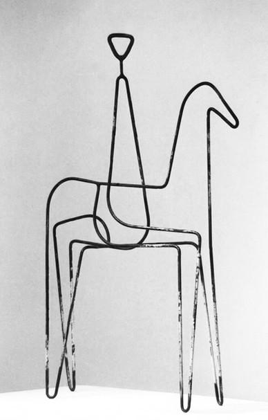 14b_Mann mit Pferd, 1994, Eisen, geschwe