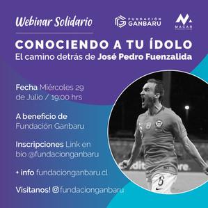 """Jose Pedro """"Chapita"""" Fuenzalida abre ciclo de charlas solidarias a beneficencia de Fundación Ganbaru"""