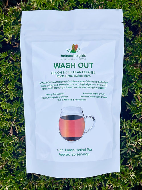 WASH OUT - Colon & Cellular Cleanse w/Sea Moss