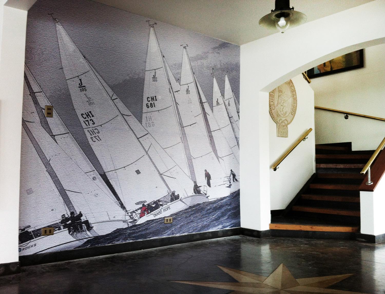 Fotomural Club de Yates de Algarrobo