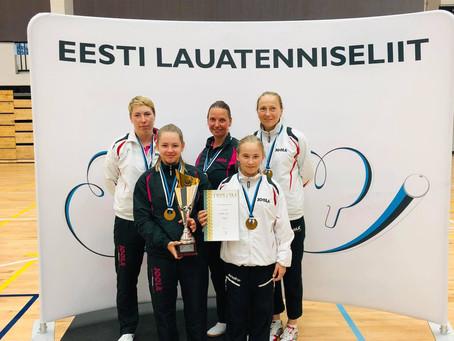 Aseri spordiklubi lauatennisenaiskond on Eesti meister!