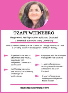 Tzafi Weinberg, Art Therapy Supervisor, facilitator of professional workshops and Training. Registered Art Psychotherapist.
