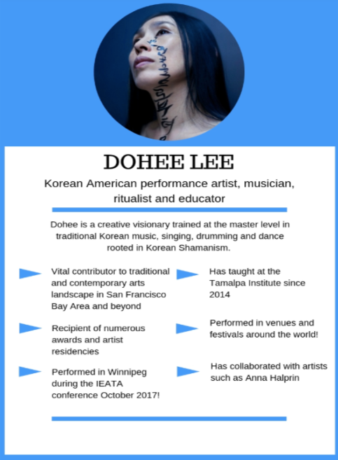 Dohee Lee, Korean American performance Artist, musician and educator.