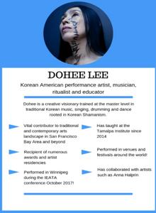 Dohee Lee, Korean American performance Artist, musician and educator.