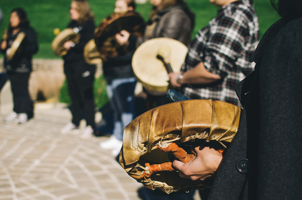 Indigenous Drum Circle for Culture Days at the Forks
