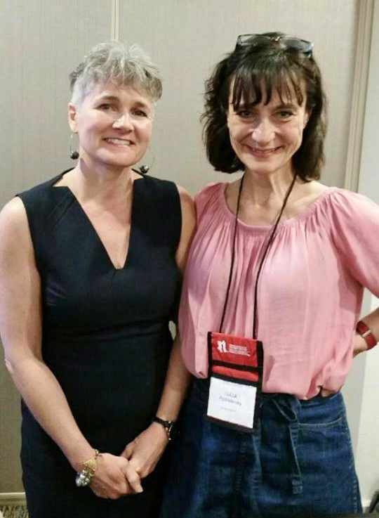 Darci Adam with Csilla Przibislawsky, creative art therapists