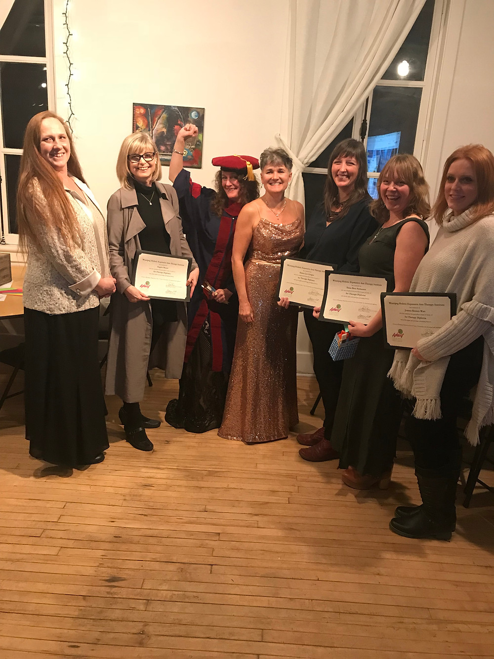 WHEAT class of Art Therapists graduating November 11, 2018