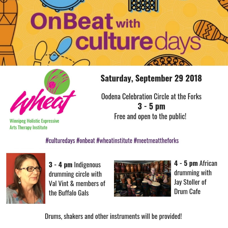 On Beat with Culture Days. Oodena Celebration Circle and Indigenous Drumming