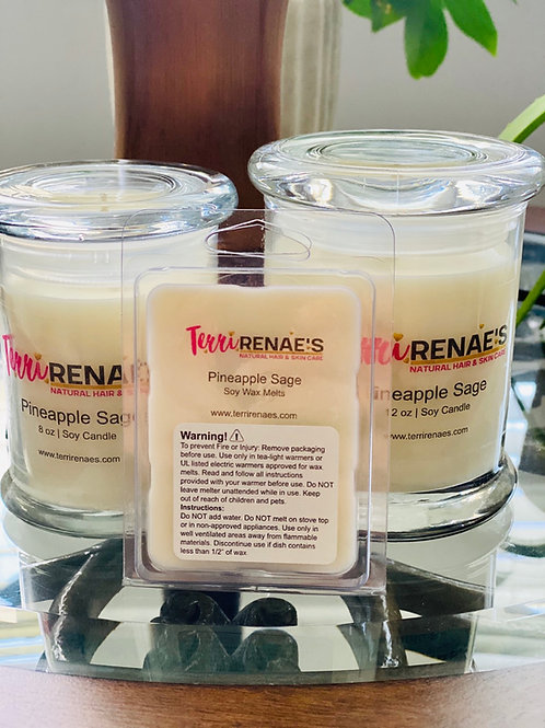 PINEAPPLE SAGE SOY CANDLES