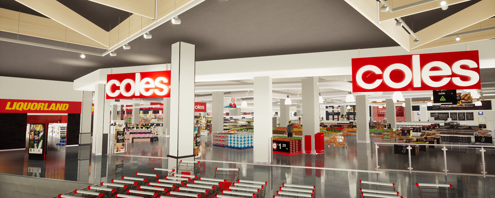 VR 3D Coles grocery