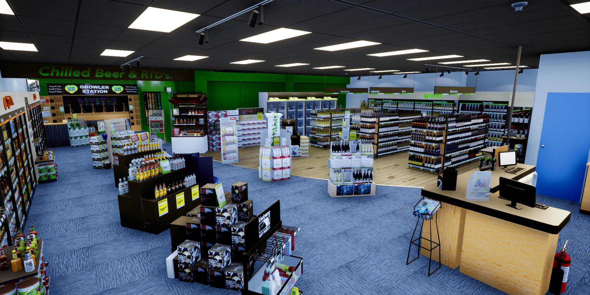 Virtual liquorland NZ 3D
